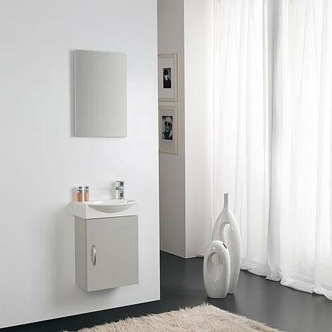 Kit meuble lave-mains Mini 42 couleur: gris nuage