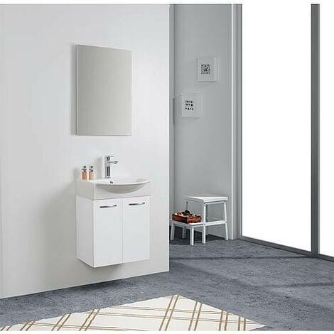 Kit meuble lave-mains Mini 50 couleur: blanc brillant
