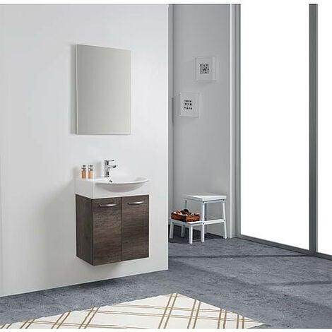 Kit meuble lave-mains Mini 50 couleur: Chêne Chateau