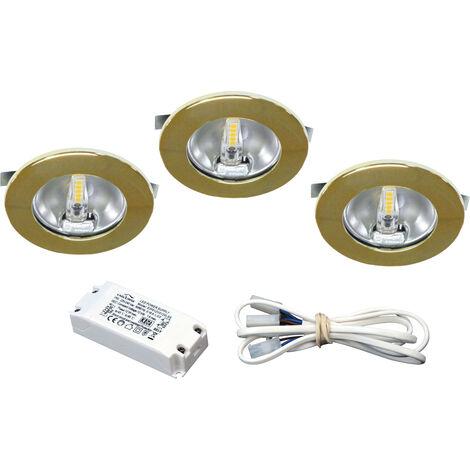 KIT MEUBLE LED - Encastres dores avec LED G4 1,8W 3000K 150lm, driver inclus