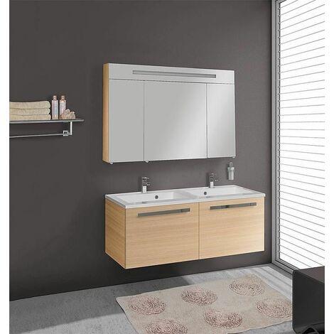 Kit meuble salle de bains EBLI MAB Chene clair - 9373047