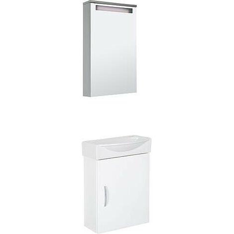 Kit meubles salle de bain Mini42 armoire à miroir 40cm *BG*