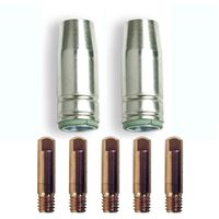 KIT MIG ONE NO gaz AWELCO 2 Buses torche mig 12 x 54 mm Ø 14 mm + 5 Tubes contacts 6 x 25 mm Ø 0.8 cuivre