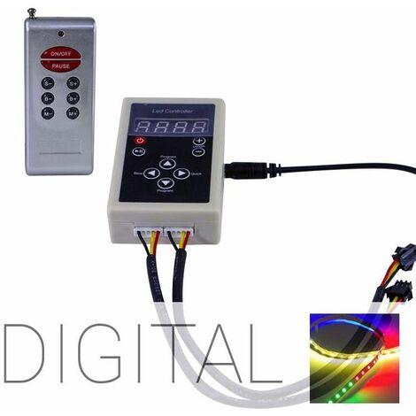 Kit mini télécommande radio pour ruban LED - RGB Digital