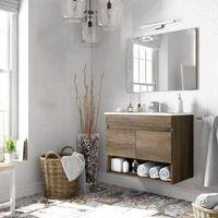 Kit mobile bagno dakota 2a cm.80x45x64h rovere con specchio - Capaldo