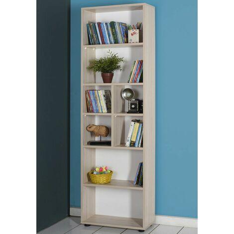 Mobile Libreria Per Soggiorno.Kit Mobile Libreria 6 Ripiani Olmo Alta A Giorno Soggiorno Ufficio Per Bambini