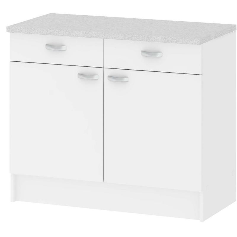 Kit Mobile per cucina componibile 2 ante 2 cassetti bianco arredo casa  45519 49