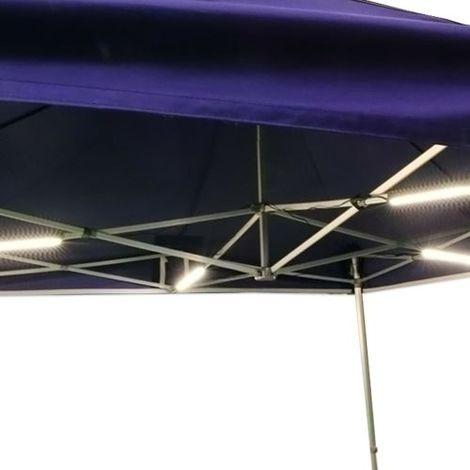 Kit modulable d'éclairage - 4 barres LED pour tente pliante