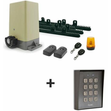 Kit motorisation Pour portail coulissant - Motorisation + digicode filaire