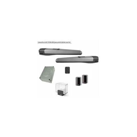 Kit motorisation TOONAKIT pour portails battants jusqu'à 3m, téléco + cellule + feu NICE - TOONA4024KCE.