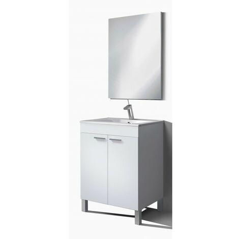 "main image of ""Kit Mueble de baño 60 cm 2p+ espejo CON lavamanos PMMA IberoDepot"""
