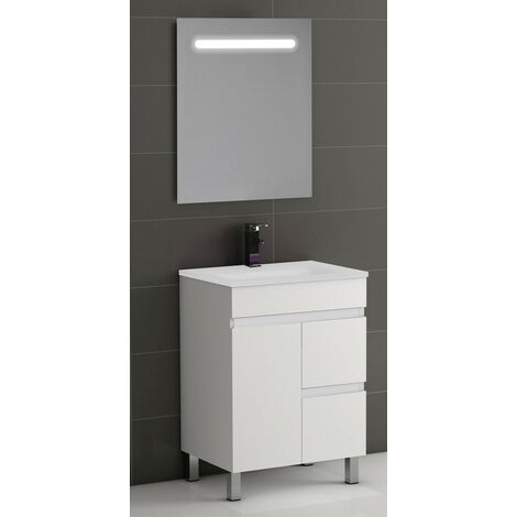 "main image of ""KIT Mueble de Baño Modelo EGIPTO PORCELANA, Formado por Mueble de Baño, Lavabo de Porcelana y Espejo"""