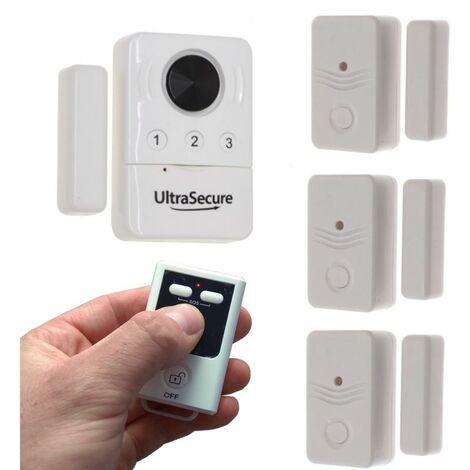 Kit multi-détection ouverture de porte / fenêtre avec 1 sirène locale (gamme BT)