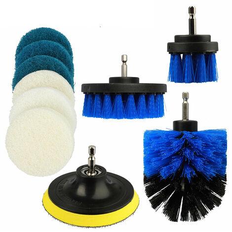 Kit Multi-Usages De Brosses De Perceuse Depolies De 10 Pieces, Accessoire De Nettoyage De Perceuse Electrique, Nettoyage General En Profondeur
