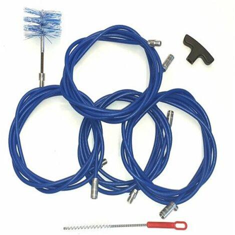 Kit nettoyage de tuyaux de poêle à granulés 12 mt D 80 mm
