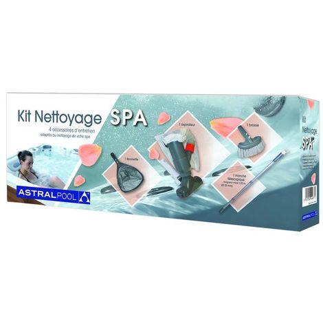 Kit Nettoyage Spa - Aspirateur - Brosse - Epuisette - Manche télescopique