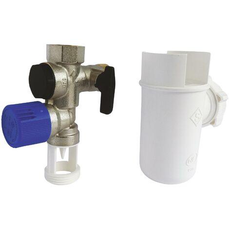 Kit NF comprenant 1 groupe de sécurité laiton et 1 entonnoir siphon