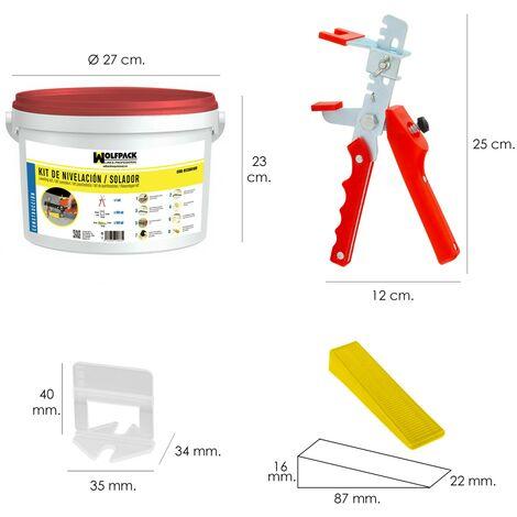 Kit nivelador solador (pistola, calzos y cuñas)