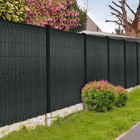 Kit occultant gris L. 250 x H. 173 cm lamelles PVC rigides qualité PRO