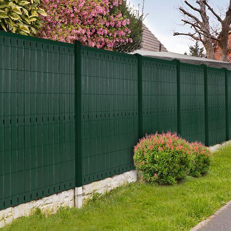 Kit occultant vert L. 250 x H. 123 cm lamelles PVC rigides qualité PRO