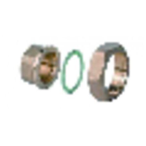 Kit of 3 fittings dn40 en laiton (DHW) - SIEMENS : ALG403B