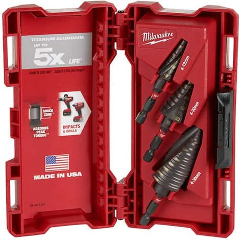 Kit of 3 MILWAUKEE stage drills for impact tools 48899266