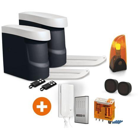 Kit OpenGate 2 Integral, avec interphone AudioKit 3208D + Relais 12V, OPENGATE 2 + 3208D + Relais