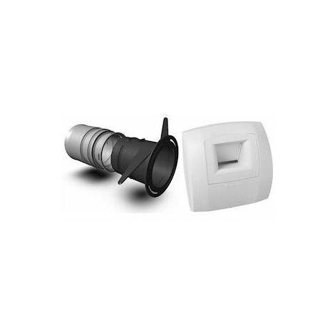 Kit Optiflex Curve bainWC diamètre 80 pour F6F7 - blanc