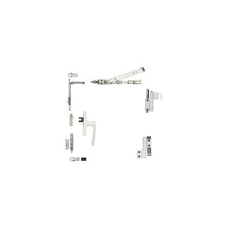 Kit oscillo-battant Galicube 1 V FAPIM à crémone Gea - Compas moyen 562 à 1200 mm - Gris - 1330BF_G5