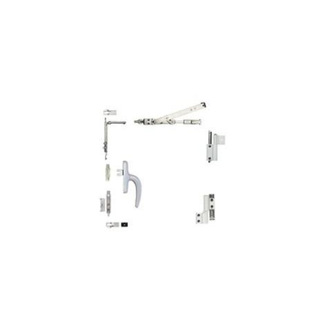Kit oscillo-battant Galicube 1 V FAPIM à crémone Nefer midi - compas moyen 562 à 1200 mm - blanc 9010 - 1330BA_32