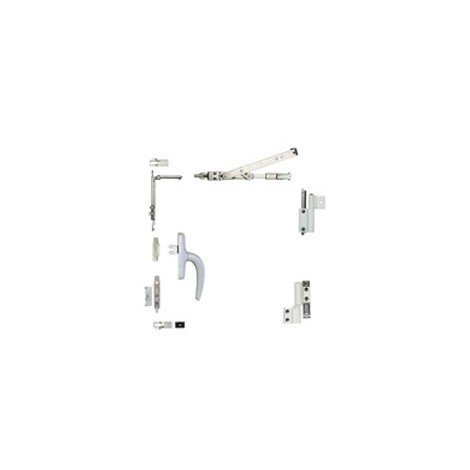 Kit oscillo-battant Galicube 1 V FAPIM à crémone Nefer midi - compas moyen 562 à 1200 mm - Noir 9005 - 1330BA_37