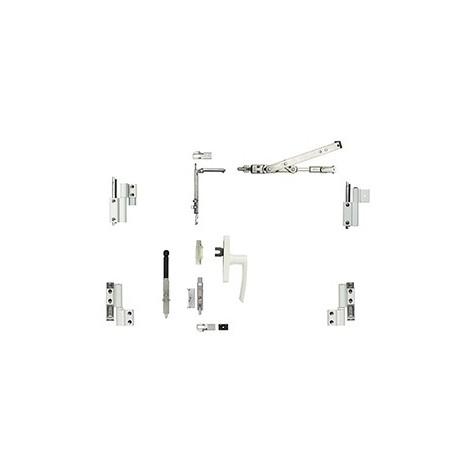 Kit oscillo-battant Galicube 2 V FAPIM à crémone Gea - compas moyen 562 à 1200 mm - Gris - 1331GF_G5