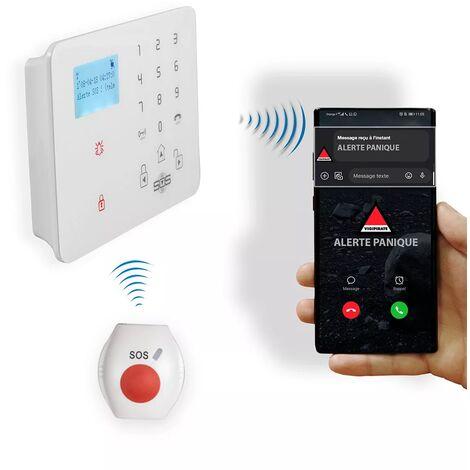 Kit panique GSM 2G+3G urgence alerte sans-fil - Transmetteur (réseau mobile) KP-9 + 1 bouton panique (gamme KP)