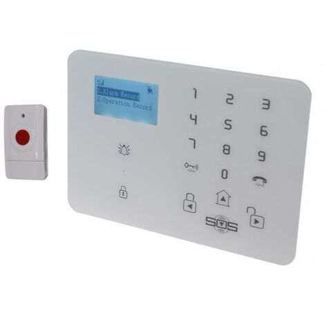 Kit panique GSM 3G urgence alerte sans-fil - Transmetteur (réseau mobile) KP-9 + 1 bouton panique (gamme KP)