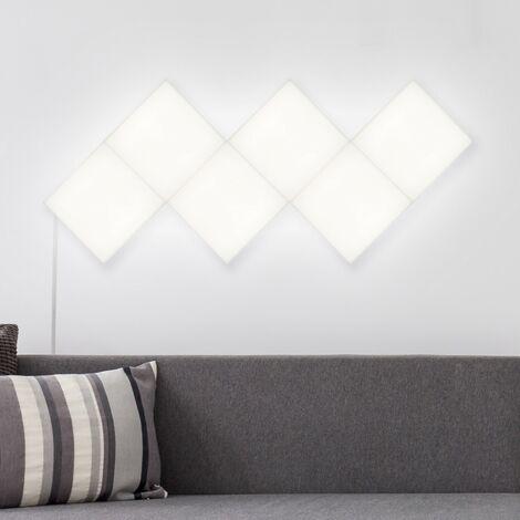 Kit Panneau LED Carré 30x30cm 57.5W 4800lm (6 Un) Blanc Neutre 4000K - 4500K