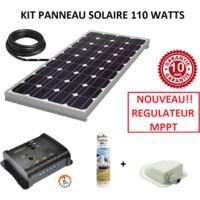Kit panneau solaire 100w monocristallin MPPT pour camping car