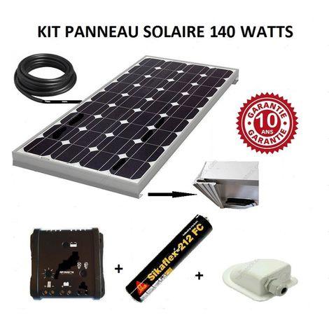 Kit panneau solaire 140w monocristallin pour camping car