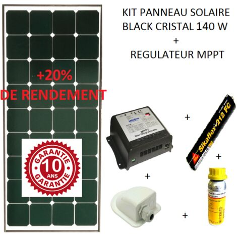 kit panneau solaire 140w pour camping car black booster. Black Bedroom Furniture Sets. Home Design Ideas