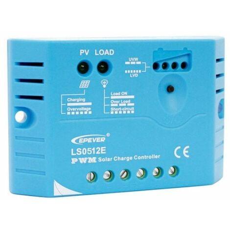 Kit panneau solaire mono 5W 12V avec régulateur 5A et batterie