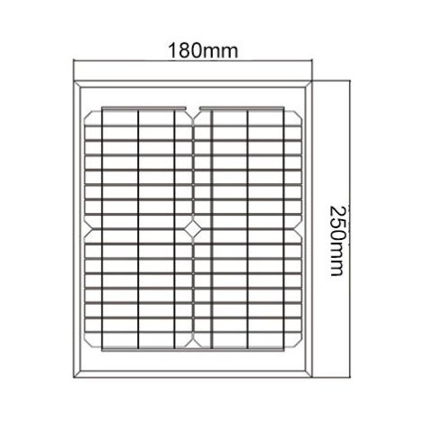 Kit panneau solaire polycristallin 5W 12V et régulateur 5A