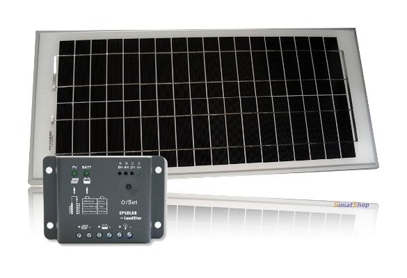 Kit pannello fotovoltaico da w regolatore di carica crepuscolare