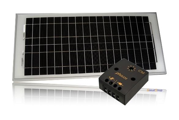 Kit illuminazione solare con lampada a led e pannello solare: luci