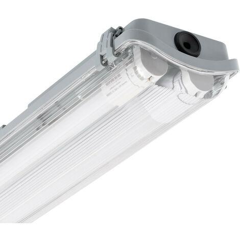 Kit Pantalla Estanca Slim con dos Tubos LED 1200mm Conexión un Lateral