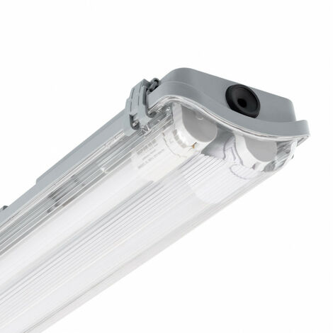 Kit Pantalla Estanca Slim con dos Tubos LED 1500mm Conexión un Lateral