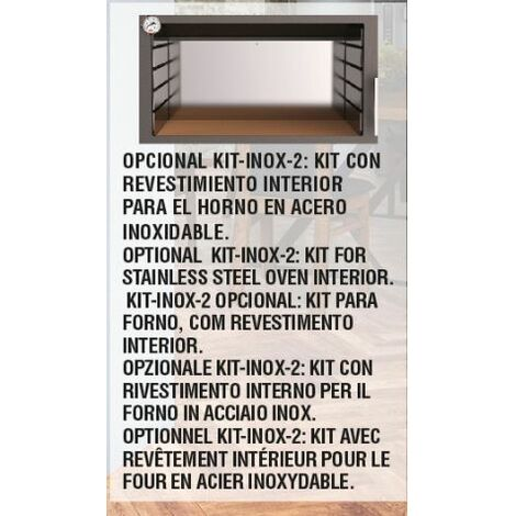 KIT PARA REVESTIR EL INTERIOR DEL HORNO SERIE MURANO BRONPI