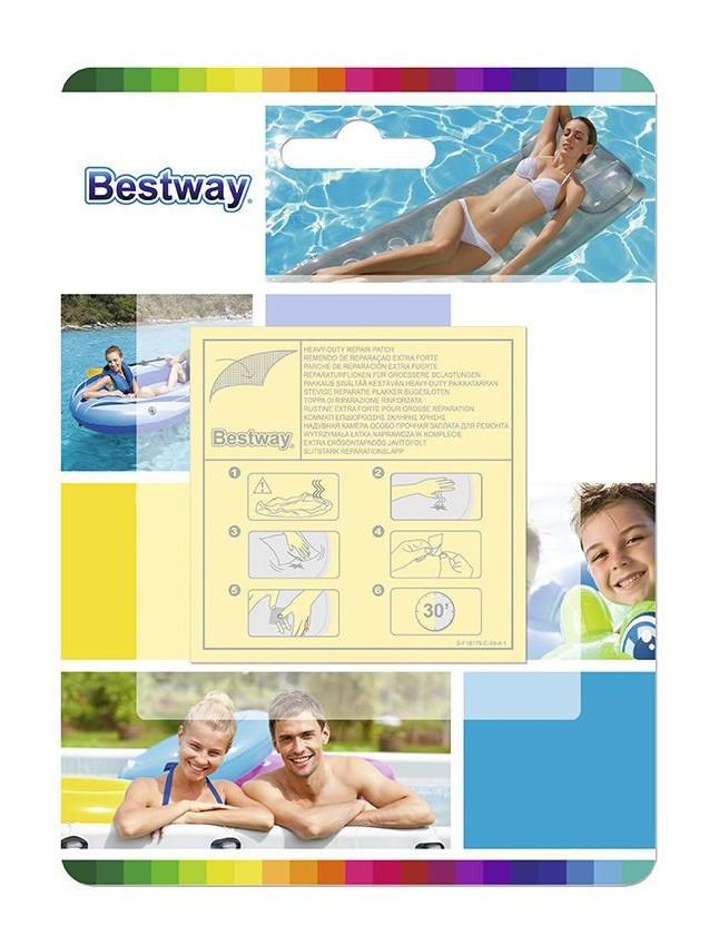 Bestway - Kit Parches Para Reparar Extrafuertes Blister 10 Piezas - NEOFERR..