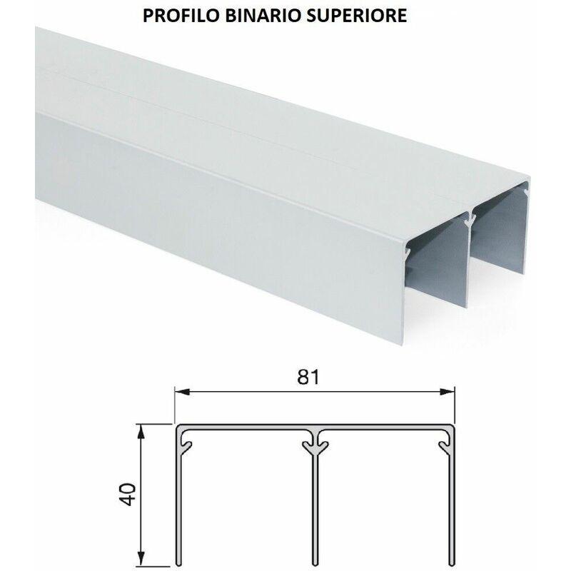 Kit Ante Scorrevoli Per Armadi A Muro.Kit Per Armadio Due Ante Scorrevoli 18 Mm Placard Emuca Dimensione