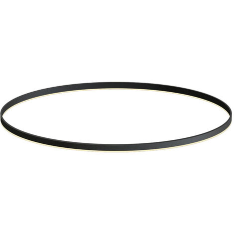 KIT - Perfil aluminio circular RING, Ø1200mm, negro