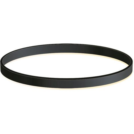 KIT - Perfil aluminio circular RING, Ø600mm, negro