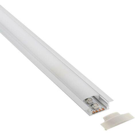 KIT - Perfil aluminio KOBE PRESS para tiras LED, 2 metros